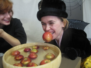 Bobbing for Apples at our Halloween Party 2013
