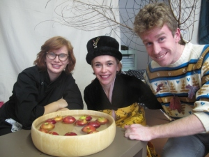 Cameron, Margaret, and our Theatre Teacher Catalina after Bobbing for Apples! Halloween 2013