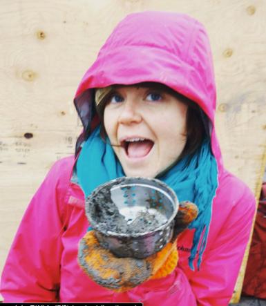 Megan loving her mud pies