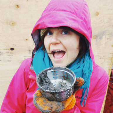 Megan loving her mud pies